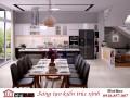Tăng nét cá tính cho một không gian bếp đẹp phong cách đương đại