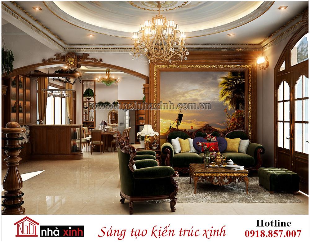 nội thất đẹp phòng khách nhà chú Khanh ở Bình Thạnh do Nhà Xinh thiết kế
