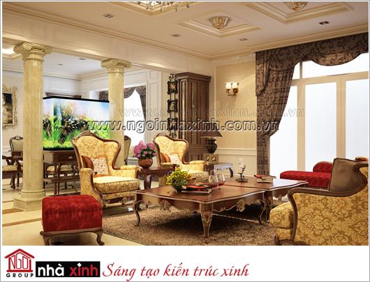 nội thất đẹp phong cách cổ điển nhà anh Quân ở Đồng Nai do Nhà Xinh thiết kế