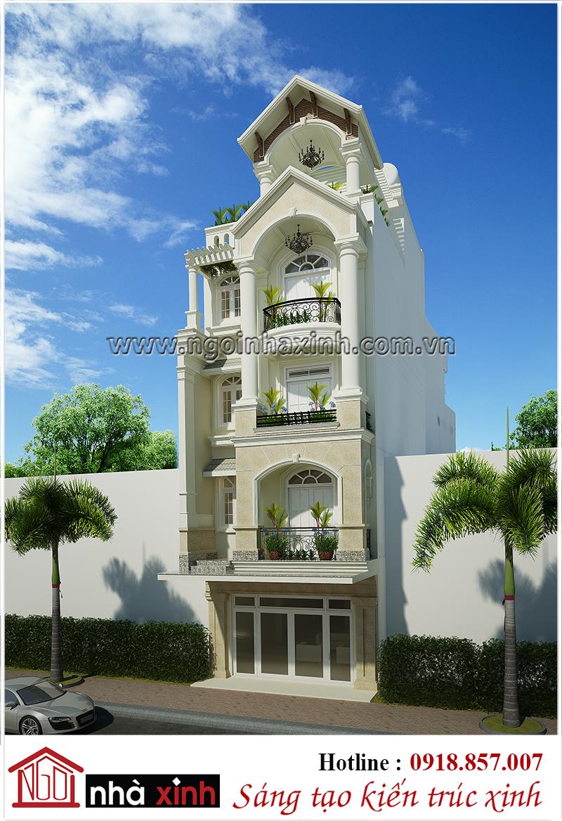 nhà phố đẹp, mẫu nhà phố đẹp, nhà phố tân cổ điển đẹp, nhà xinh, thiết kế nhà xinh