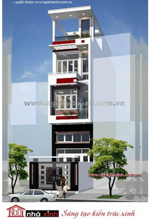Nhà phố đẹp hiện đại Ngôi Nhà Xinh thiết kế