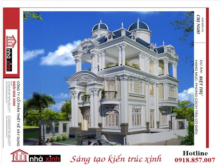 Biệt thự đẹp | Tân cổ điển | 3 tầng | Chị Nghi-Âu Cơ, Tân Bình | NNX BT708