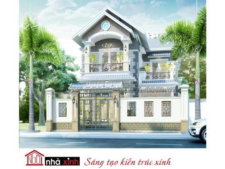 Mẫu thiết kế biệt thự đẹp   Hiện Đại - Nhà Anh Quang - Bà Điểm - BT-NNX-0615