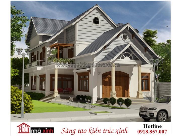 Mẫu Thiết Kế Biệt Thự Đẹp   Tân Cổ Điển   Anh Hậu - Tân Uyên, Bình Dương    NNX - BT701