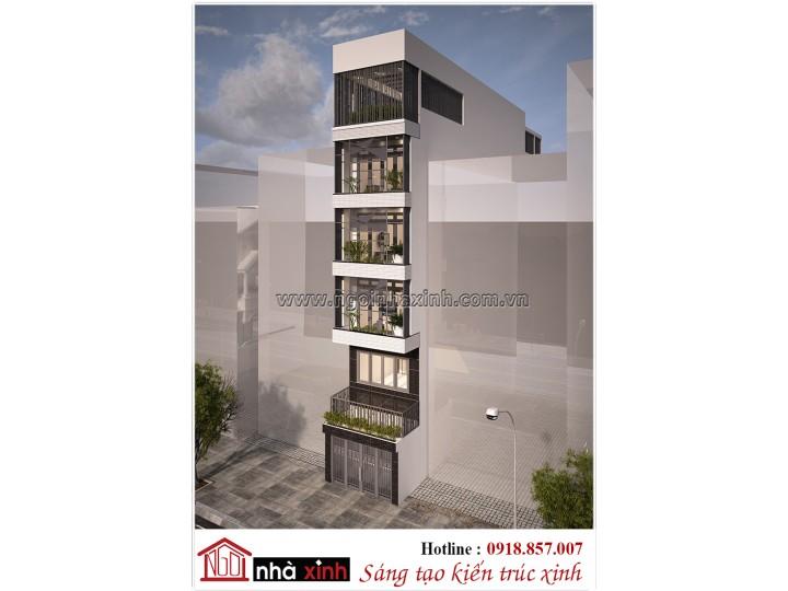 Thiêt kế nhà phố đẹp | Hiện đại |  | 6 Tầng | Chị Hạnh - Phổ Quang Tân Bình