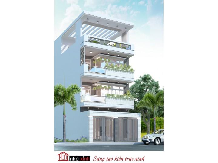 Mẫu thiết kế nhà phố đẹp | Nhà anh Thi - Quận 8 - NP-NNX0622
