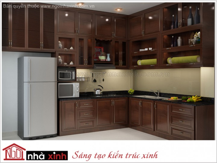 Mẫu Nội Thất Phòng Bếp & Phòng Ăn Đẹp | Hiện Đại | Chị Liên - Ngô Đức Kế | NT.NNX 131