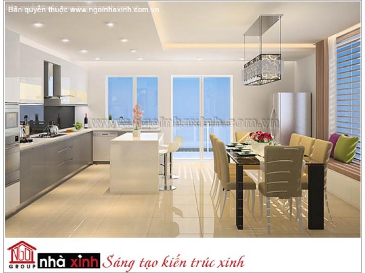 Mẫu Thiết Kế Nội Thất Phòng Bếp & Phòng Ăn Đẹp | Hiện Đại | Anh Hiếu - Q. Bình Tân | NT . NNX109
