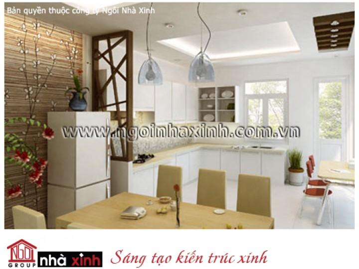 Mẫu Thiết Kế Nội Thất Phòng Bếp & Phòng Ăn Đẹp   Hiện Đại   Cô Tuyết - Q. Tân Bình   NT . NNX017
