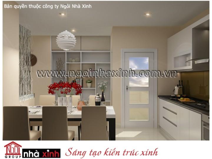 Mẫu Nội Thất Phòng Bếp & Phòng Ăn Đẹp | Hiện Đại | Cô Thu Trang - Q. Thủ Đức | NT.NNX 133