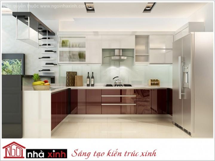 Mẫu Thiết Kế Nội Thất Phòng Bếp & Phòng Ăn Đẹp | Hiện Đại | Anh Thái Phiên - Quận 11 | NT. NNX083