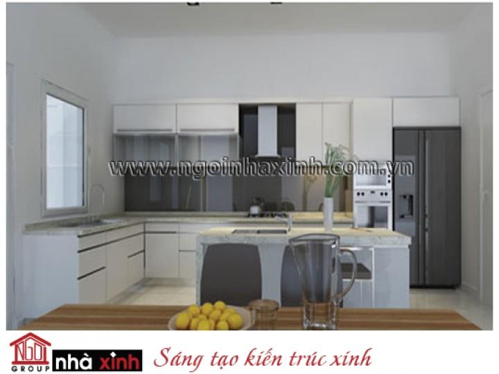 Mẫu Nội Thất Phòng Bếp & Phòng Ăn Đẹp   Hiện Đại   Chị Hiền - Quận 12    NNX002.6