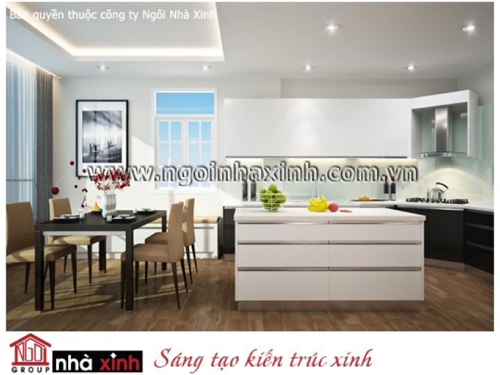 Mẫu Nội Thất Phòng Bếp & Phòng Ăn Đẹp | Hiện Đại | Chị Loan - Quận 8 | NT.NNX129