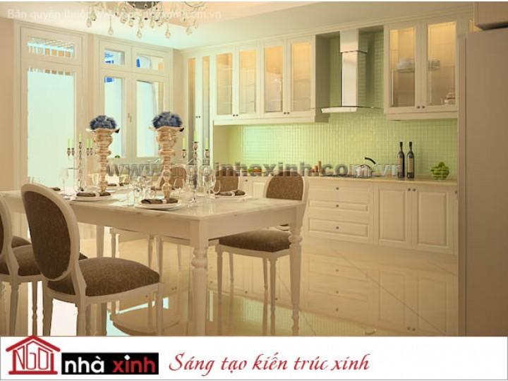 Mẫu Nội Thất Phòng Bếp & Phòng Ăn Đẹp | Tân Cổ Điển | Anh Peter Lưu - Bình Chánh | NT. NNX074