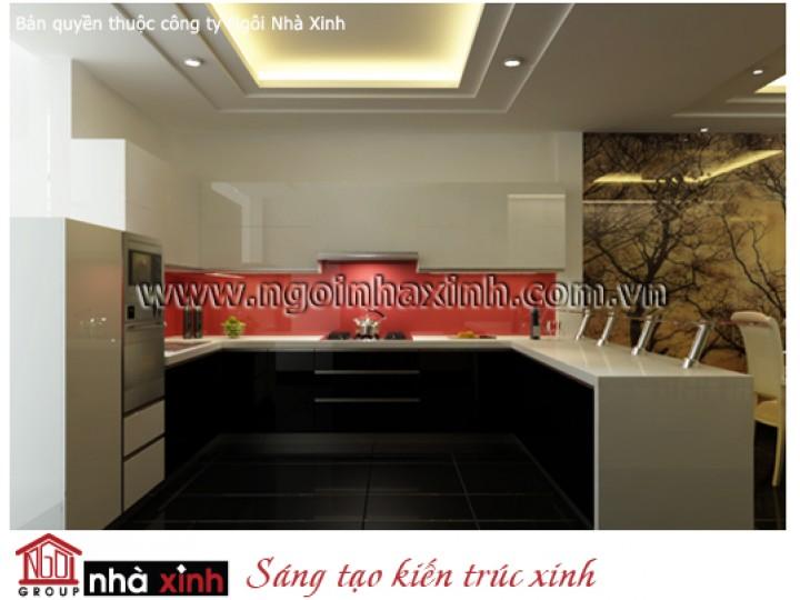 Mẫu Nội Thất Phòng Bếp & Phòng Ăn Đẹp   Tân Cổ Điển   Anh Hùng - Q. Gò Vấp   NT. NNX121