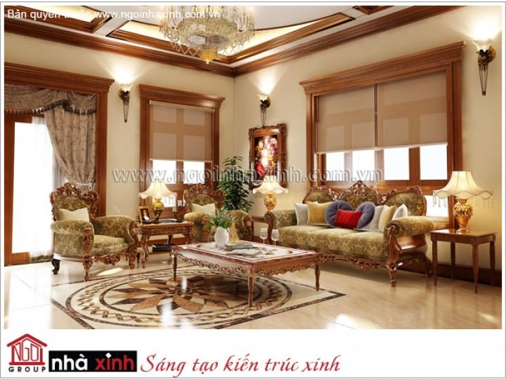Phòng Khách Đẹp Lộng Lẫy | Tân cổ Điển | Biệt Thự | Tây Ninh | NT.NNX163
