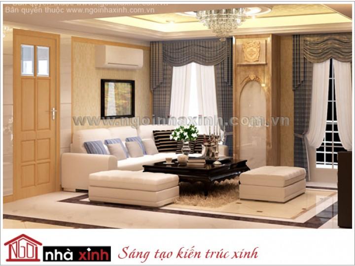 Mẫu Phòng Khách Đẹp Thanh Lịch | Tân cổ Điển | Q.2 | NT. NNX 057