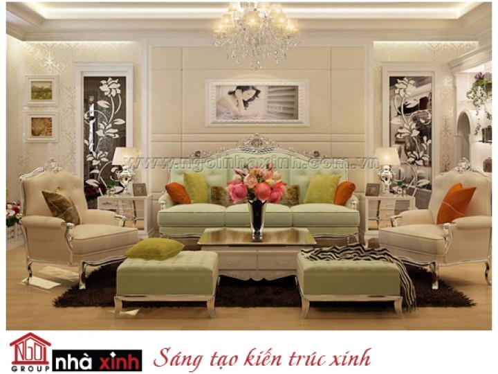 Mẫu Phòng Khách Đẹp Lỗng Lẫy | Tân Cổ Điển | Chung Cư | Quận 7 | NT. NNX143