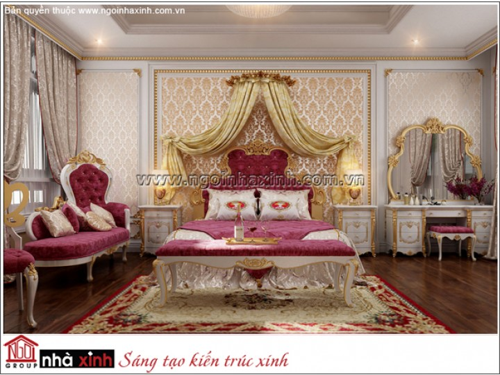 Thiết Kế Phòng Ngủ Đẹp | Cổ Điển | Tiền Giang | NNX173