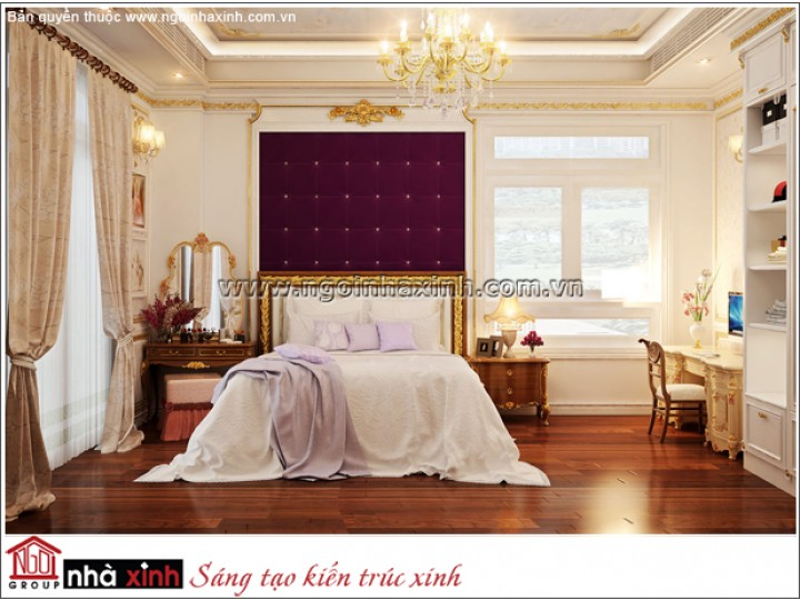 Mẫu Thiết Kế Phòng Ngủ Đẹp| Cổ Điển |Tiền Giang | NTNNX173