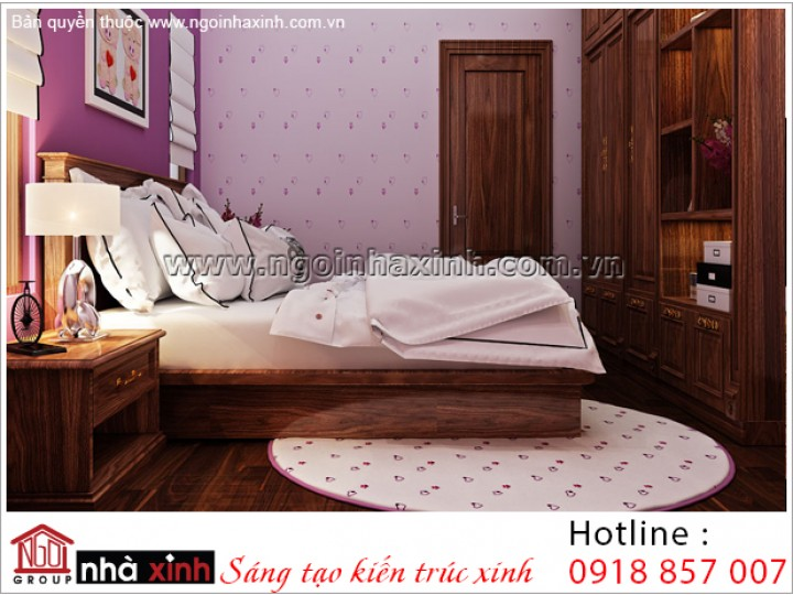 Thiết Kế Phòng Ngủ Đẹp | Cổ Điển - Gamuda | NT. NNX 188