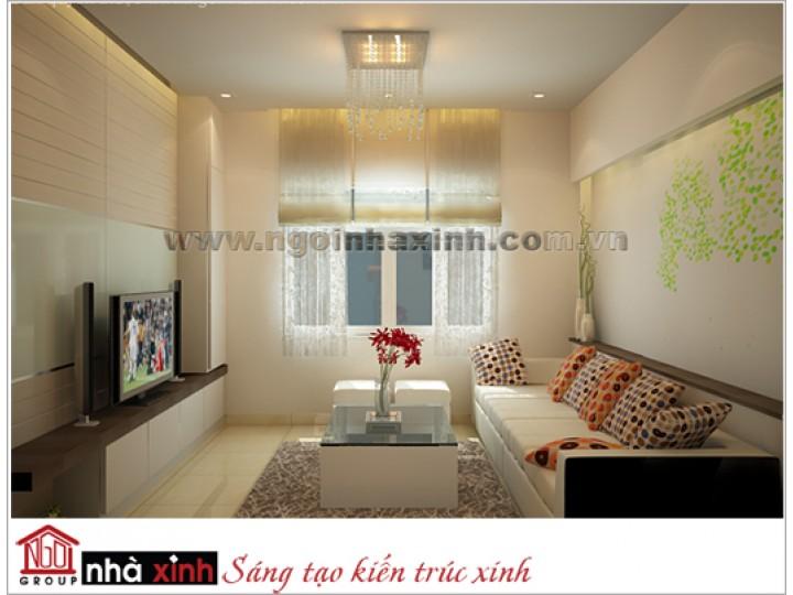 nội thất đẹp hiện đại nhà anh Hải quận 10 do Nhà Xinh thiết kế