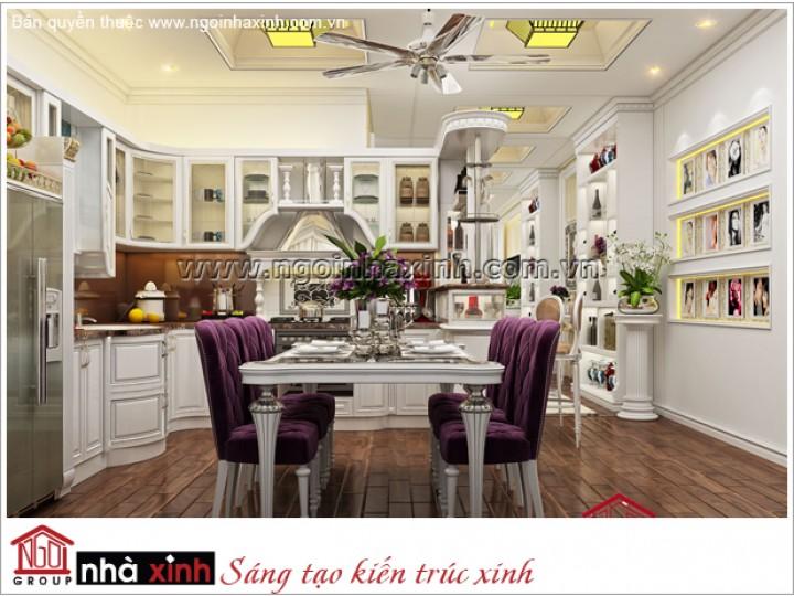Mẫu nội thất phòng bếp & Phòng Ăn đẹp | Tân Cổ Điển | Chị Hà - Q. Tân Bình | NT.NNX170