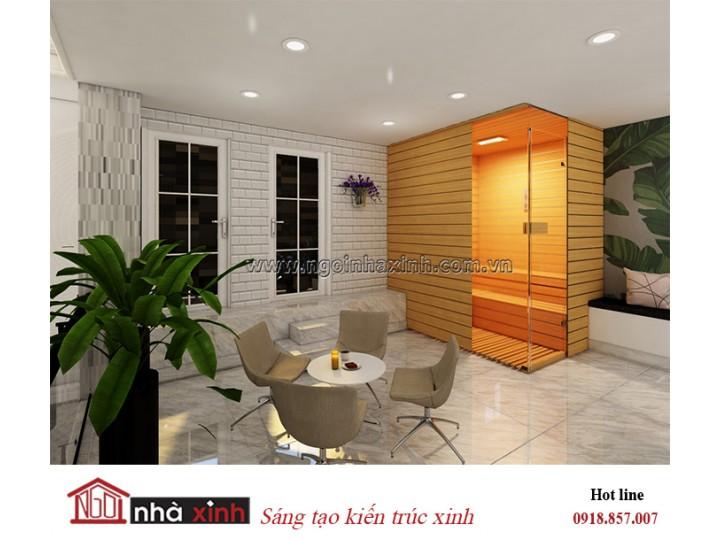Mẫu thiết kế phòng Sauna đẹp | Hiện đại | Nhà anh Dũng Nghệ An