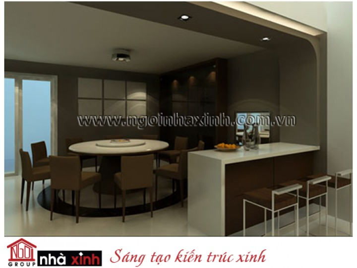 Mẫu Thiết Kế Nội Thất Phòng Bếp & Phòng Ăn Đẹp | Hiện Đại | Cô Phụng - Quận 5 | NT. NNX006