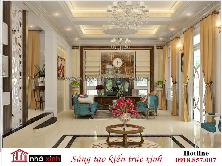 Nhà Xinh | Nội Thất Phòng Khách Đẹp | Tân Cổ Điển | Nhà Anh Đăng - Quảng Ninh