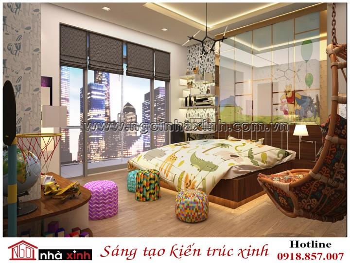nội thất phòng ngủ bé trai nhà anh Hùng do Nhà Xinh thiết kế