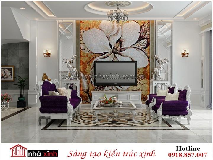 Mẫu nội thất đẹp NHÀ XINH | Tân Cổ điển | Chị Ngọc - Chợ An Nhơn | NNX - NT718