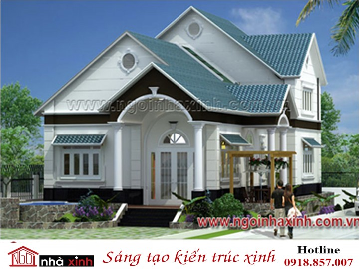 biệt thự đẹp, biet thu dep, mẫu biệt thự đẹp, nhà xinh, thiết kế nhà xinh