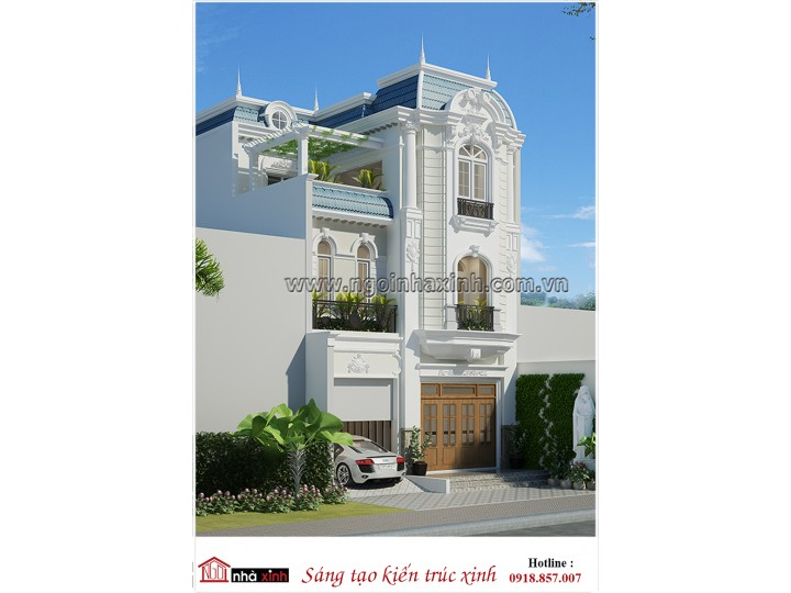 Nhà Đẹp Phong Cách Tân Cổ Điển   Chị Thúy - Quận 12   NNX NP 715