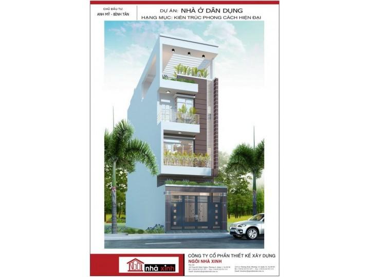 Thiết kế nhà phố đẹp | anh Mỹ | Bình Tân | NP-NNX0617