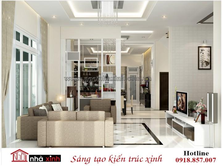 Thiết kế nội thất phòng khách đẹp   Hiện Đại   Ông Duyên - Quận 7   NT. NNX 195