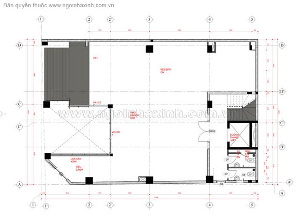 mau nha pho voi mat bang tang tret-mẫu thiết kế nhà phố