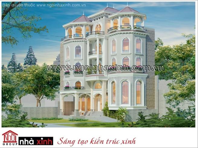 biệt thự đẹp, biet thu dep, biệt thự cổ điển đẹp, mau biet thu dep, nha xinh, ngôi nhà xinh