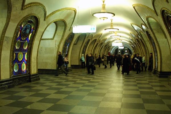 Những sân ga nghệ thuật của tàu điện ngầm Moscow