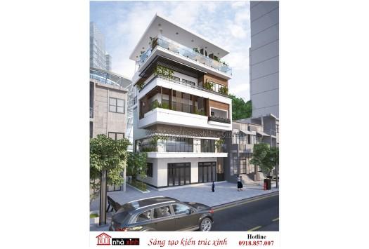 4 Mẫu thiết kế nhà phố đẹp hiện đại và cổ điển Ngôi Nhà Xinh