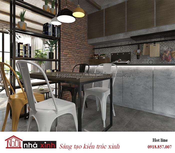 nội thất đẹp phòng bếp phong cách Luxury nhà anh Tuấn ở quận 7 do Nhà Xinh thiết kế