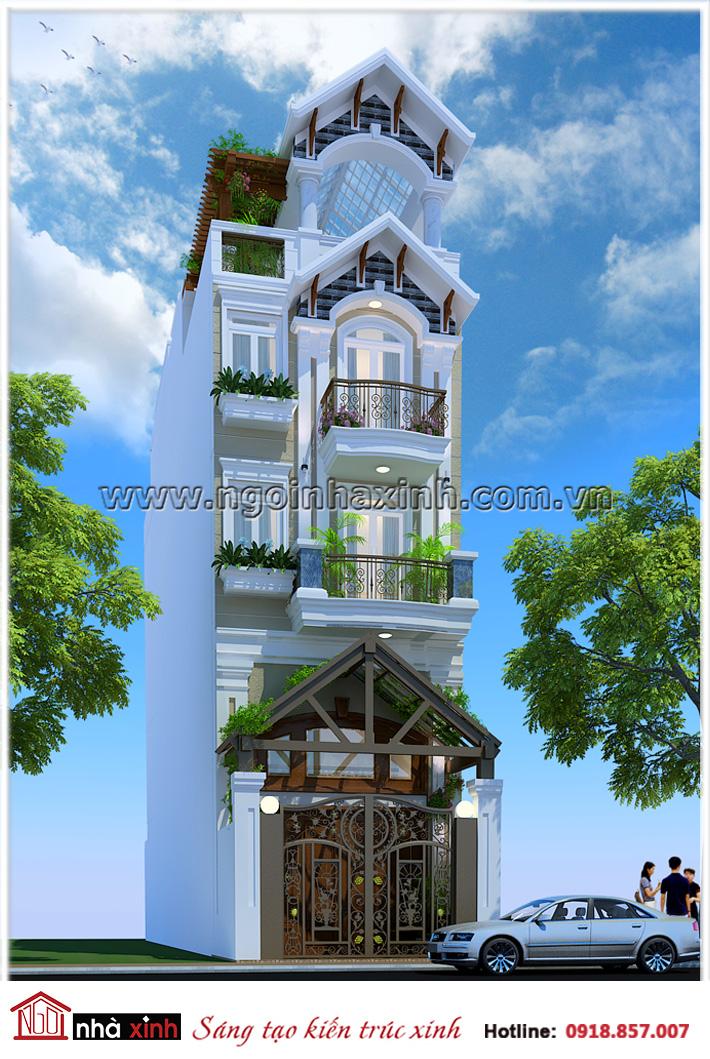 nhà phố đẹp, nhà xinh, thiết kế nhà xinh