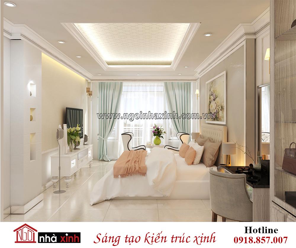 nội thất phòng ngủ đẹp hiện đại nhà chị Xuân ở Phú Nhuận do Nhà Xinh thiết kế