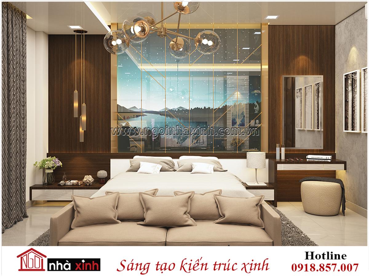 nội thất đẹp phòng ngủ phong cách hiện đại nhà chị Hoa do nhà xinh thiết kế