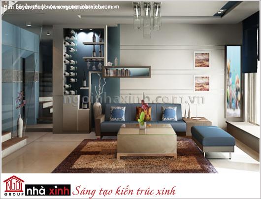 nội thất đẹp nhà anh Hải quận 10 do Nhà Xinh thiết kế