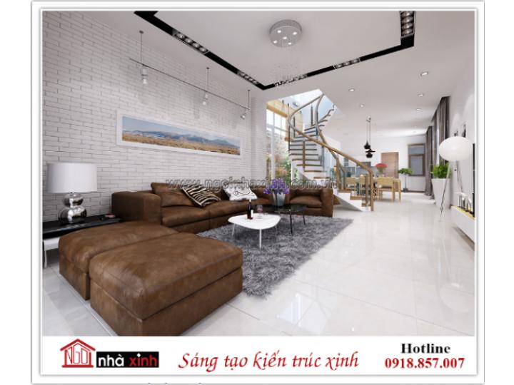10 phương án thiết kế nội thất đẹp liên thông phòng khách-bếp tiện dụng