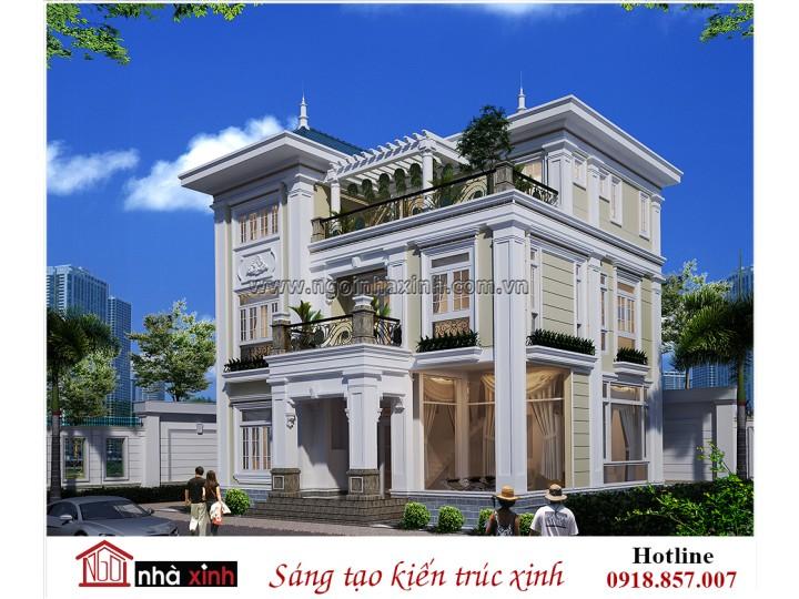 Biệt thự đẹp| Tân cổ điển | 3 tầng | Anh Khanh – Tân Sơn Nhì | BT NNX 709