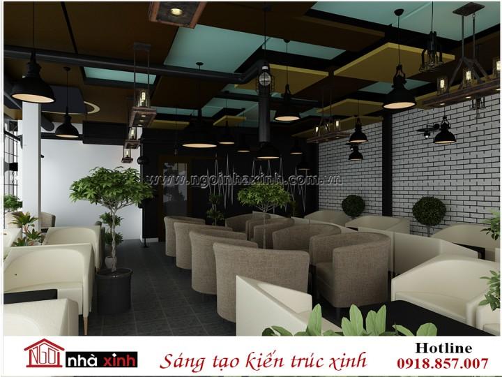 Công trình quán cafe anh Cương - Sư Vạn Hạnh | Quận 10 - phương án 1