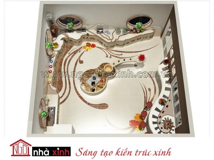 Mẫu kệ bếp đẹp nhà chị Lệ Hằng NNX-TBGC019