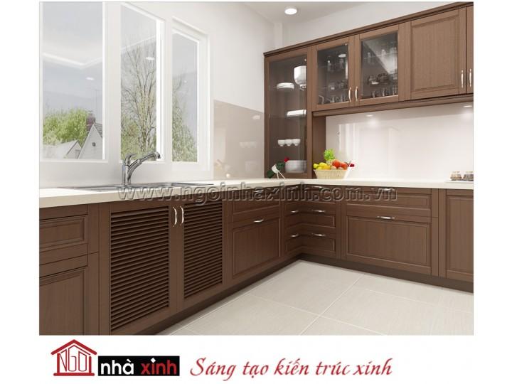 Mẫu kệ bếp đẹp nhà chị Lợi NNX-TBGC021